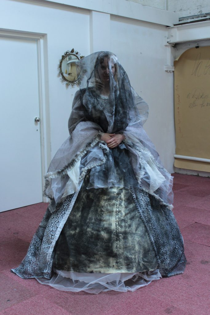 Miss Havisham's  wedding dress