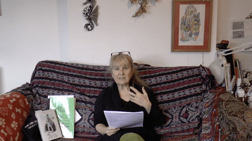 Poet, Baharier used her time in the first UK lockdown to perform in her own living space. We are not working from home. We are living at work. Baharier response to Covid-19